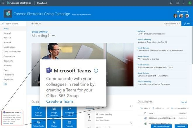 Aanmaken van een Microsoft Teams vanuit een O365 Group