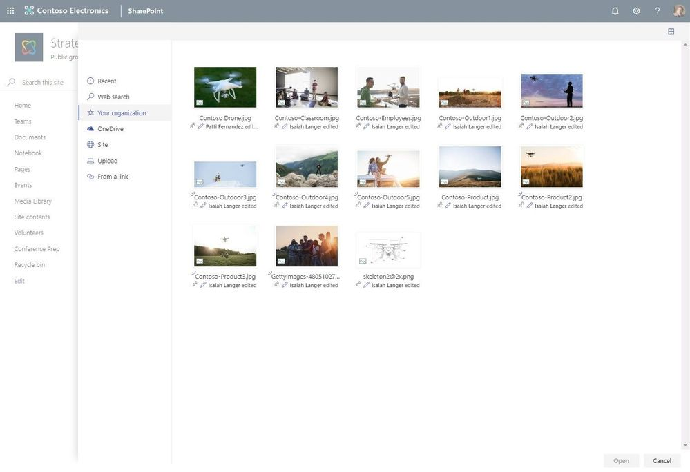Central bibliotheek voor bedrijfsspecifieke afbeeldingen